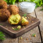 Chickpeas Falafel With Tzatziki Sauce